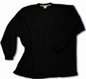 Kasten-Sweatshirt schwarz