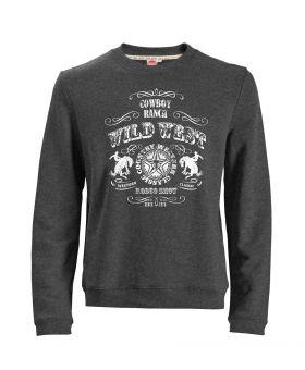 Übergrößen Sweatshirt Wild West anthrazit