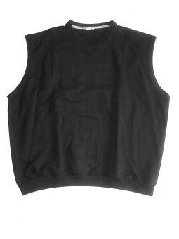 Übergröße Pullunder schwarz V-Ausschnitt