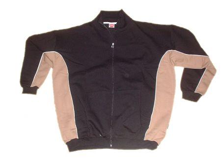 Sweatjacke schwarz/ braun mit Rückenaufdruck in 2XL