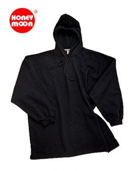 Kapuzen-Sweatshirt OHNE Saumbündchen schwarz