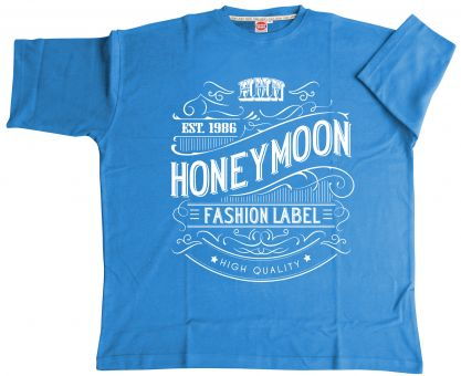 T-Shirt Vintage jeansblau