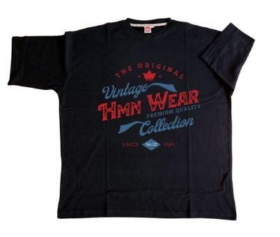 T-Shirt Übergrößen HMN Wear in schwarz
