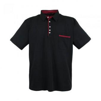 Lavecchia Basic Polo-Shirt in schwarz