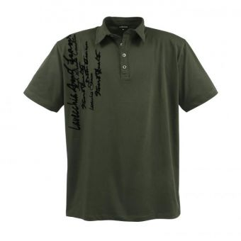 Lavecchia Fashion Polo in khaki mit Schrift Print