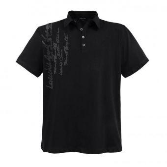 Lavecchia Fashion Polo in schwarz mit Schrift Print