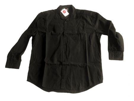 Langarmhemd schwarz, Reduziert