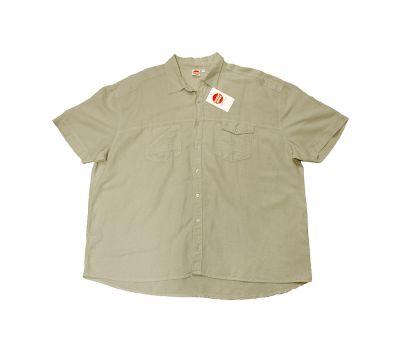 Kurzarmhemd grau/beige