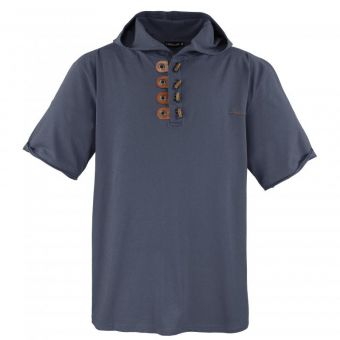 Lavecchia Kapuzen T-Shirt in dark-grey