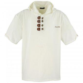Lavecchia Kapuzen T-Shirt in Creme-Weiss