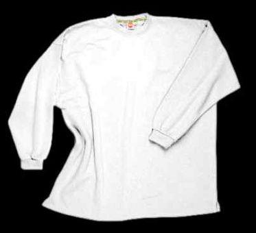 Kasten-Sweatshirt weiß