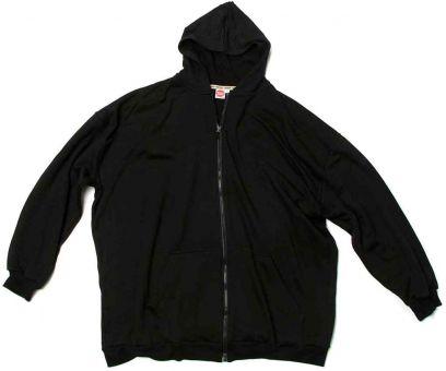 Kapuzen-Sweatjacke schwarz