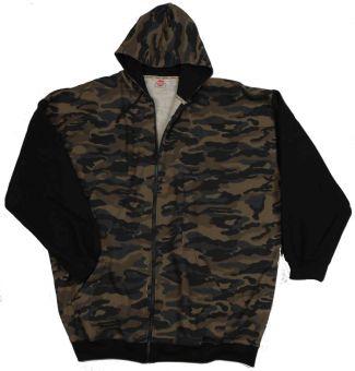 Kapuzen-Sweatjacke Camouflage 3XL