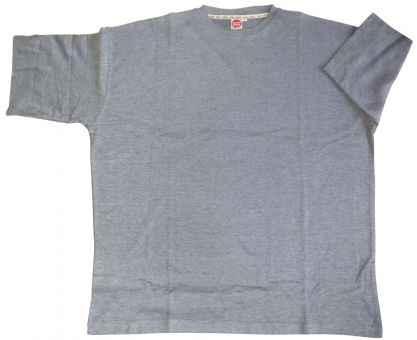 T-Shirt Basic graumelange 8XL