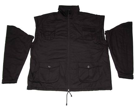 Winterjacke schwarz Zip off,
